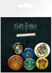 Harry Potter Crests Hogwarts Badge Button Pin Set Official Lic...