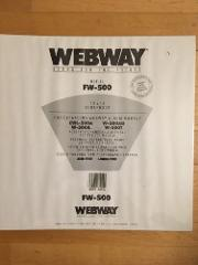 Webway FW500 White Refill Pages 12 x 12 20 Pages/10 Sheets New