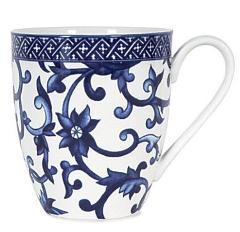 RALPH LAUREN Mandarin Blue Coffee Tea Mug Blue White Floral (M...