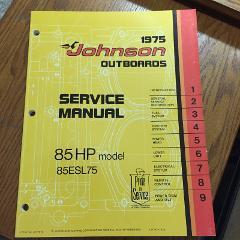 1975 Johnson Outboard Motor Service Manual 85HP Models 85ESL75