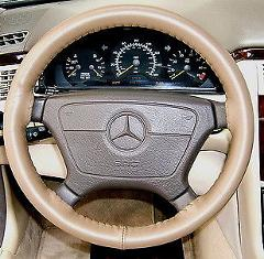 Wheelskins - Genuine Leather Steering Wheel Cover - OAK