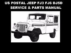 US POSTAL JEEP SERVICE PARTS & DJ-5D TUNING MANUALS DJ5 FJ3 FJ...