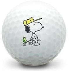 (3-Ball Gift Pack) Snoopy Golfing Logo Titleist Pro V1 Mint Us...
