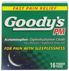 Goody's PM Powders | Pain Reliever + Nighttime Sleep Aid | 16 ...