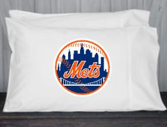 New York, Mets, Pillowcase, Standard, Queen Size, Microfiber, ...