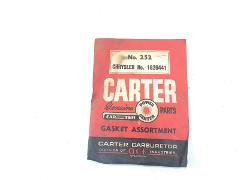 Vintage Carter Carburetor Gasket Assortment No. 252 Chrysler N...