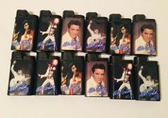 Original Lot of 12 DJEEP Elvis Presley Lighters Made in France...