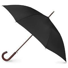 Classic Black Umbrella Wood Handle Auto Open Black Mens Access...