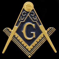 Mason Masonic Symbol Auto Emblem Freemason Gold Car Emblem Sti...