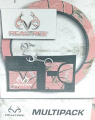 Realtree Multipack Pink Camo Steering Wheel Cover Decal Keycha...