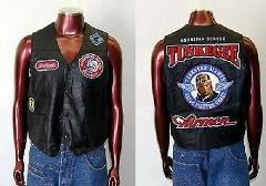 Tuskegee Airmen Red tails Leather Vest Jacket Red Tails Motor...