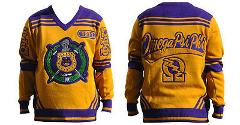 Omega Psi Phi V-neck Sweater 1911 Gold
