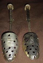 Vintage MCM Shoe Stretcher Old Aluminum Steel Metal Foot Form ...