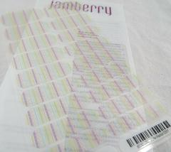 Jamberry Paint Me Pastel 0317 85A1 Nail Wrap Full Sheet