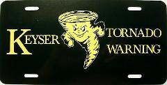 Keyser West Virginia Golden Tornado Warning License Plate