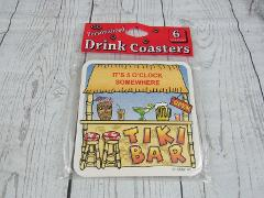 Set of 6 Tiki Bar Cardboard drink Coasters Beer Mug Holden NEW