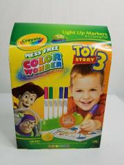 Crayola Mess Free Color Wonder Toy Story3 Light Up Markers & C...