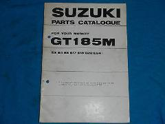 1975 75 SUZUKI GT185 GT 185 PARTS CATALOG BOOK MANUAL