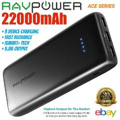 22000mAh RAVPower External Battery Power Bank Portable Charge ...