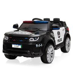 12V Kids Police Ride On Car Electric Cars 2.4G Remote Control ...