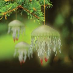 Glow In The Dark Jellyfish Holiday Ornament Christmas Tree Nov...