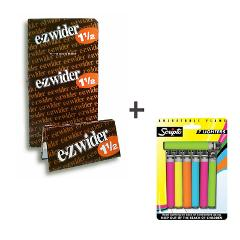 EZ Wider 1 1/2 Rolling Papers 24ct Bundle With Free New Script...