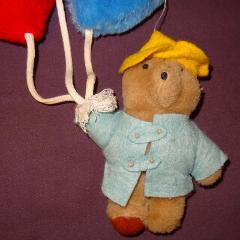 Paddington Bear Wall Hanging Balloons Baby Nursery Plush Stuff...