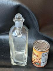 Vintage Apothecary Clear Square Jar Ground Neck 2 oz Stopper 1...