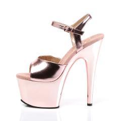 Rose Gold Adore 709 Ankle Strap Platform Shoe 7