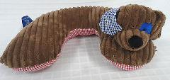 MUD PIE Baby BROWN Dog CHOCOLATE Head SUPPORT Neck PILLOW Ging...
