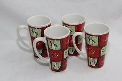 Atico Christmas Penguin Mugs Large Set of 4