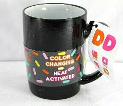 Dunkin' Donuts Color Changing Heat Activated Coffee Mug Black ...