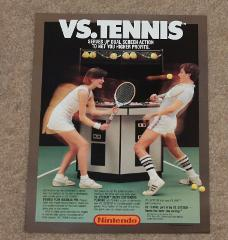 Nintendo VS Tennis System Arcade Flyer CES E3 Press Promo Prom...