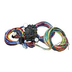 65-73 Ford Mustang 21 Circuit Universal Wiring Harness Wire Ki...
