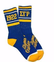 SIGMA GAMMA RHO SORORITY BLUE SOCKS SORORITY SOCK WOMENS TUBE ...