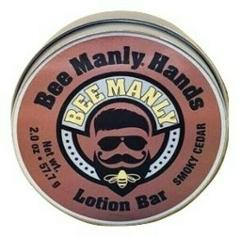 Bee Manly Hands Smoky Cedar Mens Bee Solid Lotion Bar Dry Skin...