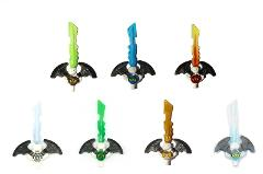 LEGO® Ninjago: Lot of 7 Djinn Swords - Lloyd, Zane, Wu, Cole, ...