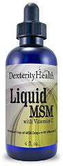Dexterity Health Liquid Sterile MSM Eye Drops with Vitamin C