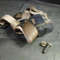 Seat Safety Belt Restraint Retractor Assembly w/ Bolts, Tan, F...