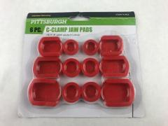 C-Clamp Jaw Pads 6 Pc for 3'