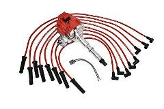 HEI DISTRIBUTOR 65K RED SPARK PLUG WIRES AMC JEEP 67-90 290 30...