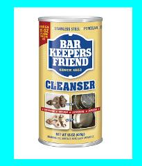 BAR KEEPERS FRIEND Cleanser Kitchen Bath Cookware Cleaner & Po...
