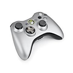 Microsoft Xbox 360 Silver Controller Model 1403