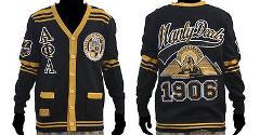 ALPHA PHI ALPHA Black Gold Sweater Alpha Phi Alpha Cardigan Sw...