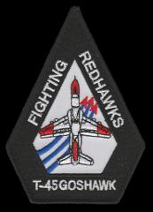 US NAVY VT-21 REDHAWKS T-45 GOSHAWK SHOULDER PATCH- WITH VELCO...