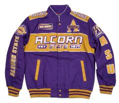 Alcorn State University Racing Jacket ASU Braves