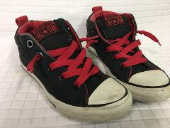 Boy's CONVERSE All Star Chuck Taylor Black/Red Sneakers Shoes ...