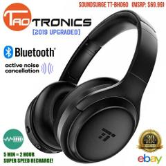 TaoTronics Headphones 2019 Upgraded Bluetooth Active Noise Can...