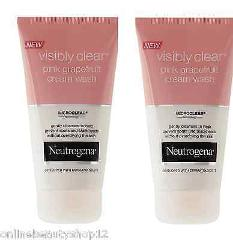2 x Neutrogena Visibly Clear Pink Grapefruit Cream Wash - spot...