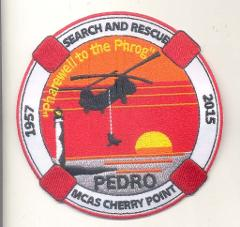 USMC VMR-1 PEDRO SUNDOWN PATCH- NO VELCO
